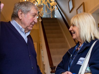 Carer and Client at home   Bridgewater Home Care