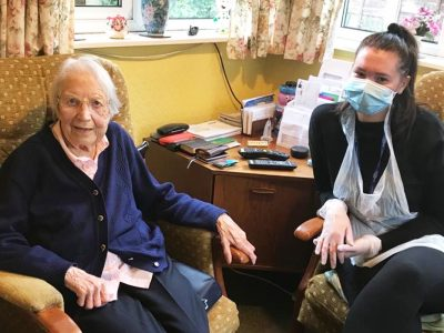 Carer and Client   Bridgewater Home Care